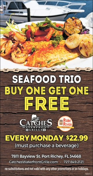 Seafood Trio Catches Waterfront Grille Port Richey Fl