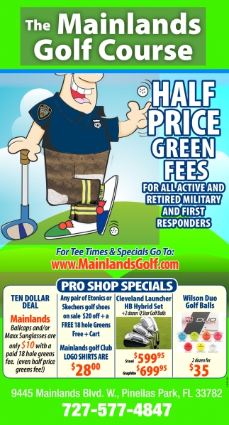 HALF PRICE GREEN FEES