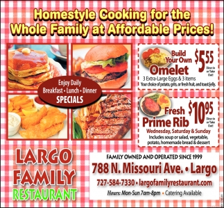 Homestyle Cooking For The Whole Family