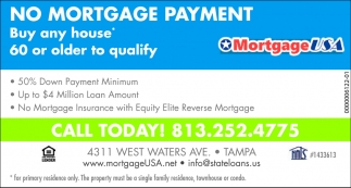 NO MORTGAGE PAYMENT