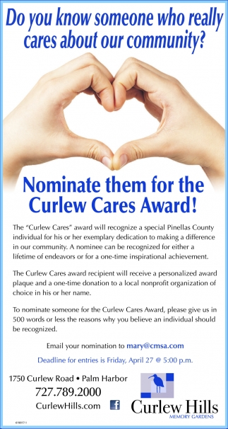 Nominate Them For The Curlew Cares Award!