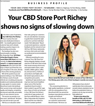 Your CBD Store In Port Richey