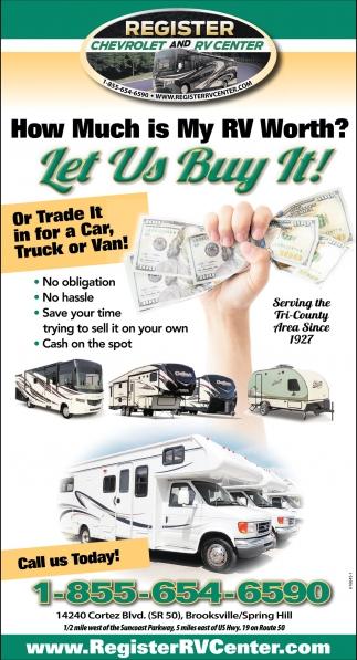 how much is my rv worth register chevrolet r v brooksville fl. Black Bedroom Furniture Sets. Home Design Ideas