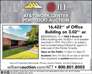 AT&T WORK CENTER PORTFOLIO AUCTION