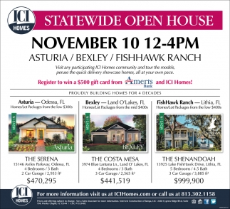 Statewide Open House