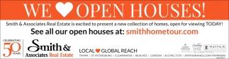 WE LOVE OPEN HOUSES!