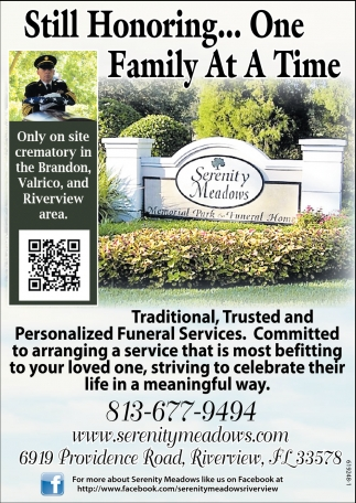 One Family At A Time, Serenity Meadows, Riverview, FL