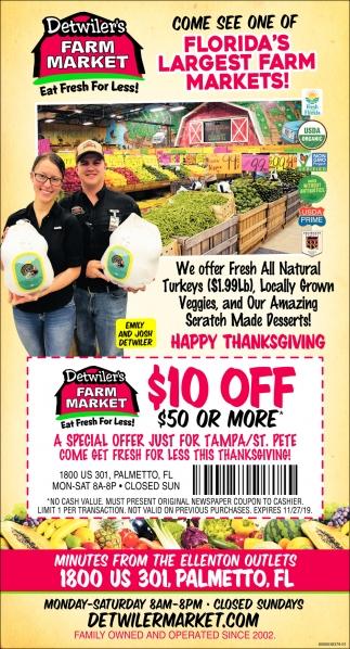 FLORIDA'S LARGEST FARM MARKETS!