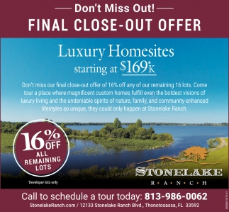 FINAL CLOSE OUT OFFER