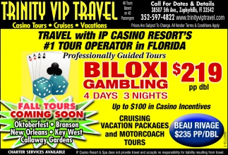 Trave With IP Casino Resort's #1 Tour Operator In Florida