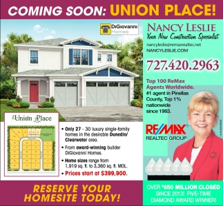 RESERVE YOUR HOMESITE TODAY!