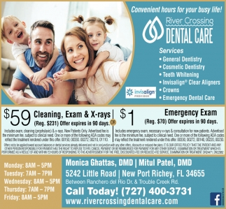 $59 Cleaning, Exam & X-Rays