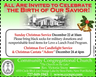 All Are Invited To Celebrate The Birth Of Our Savior!