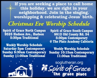 Christmas Eve Worship Schedule