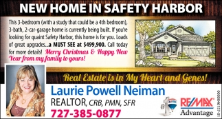 NEW HOME IN SAFETY HARBOR