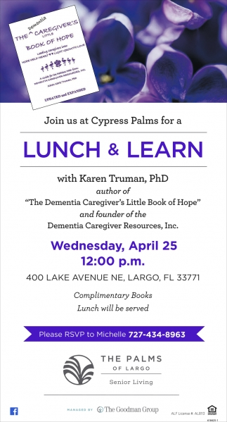 Join Us At Cypress Palms For A Lunch & Learn