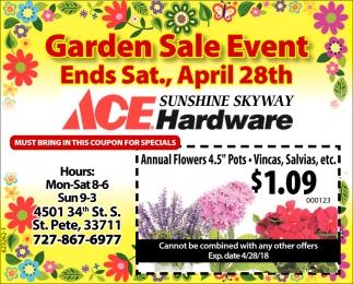 Garden Sale Event