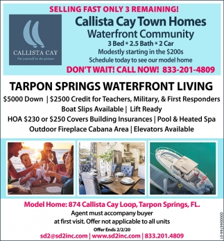 TRAPON SPRINGS WATERFRONT LIVING