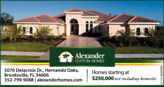 Homes Starting At $250.000