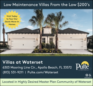 Low Maintenance Villas From The Low $200's
