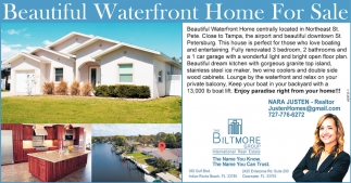 Beautiful Waterfront Home For Sale
