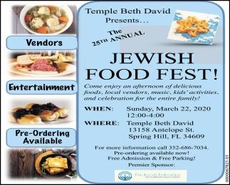 Jewish Food Fest