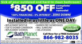 $850 Off Complete Bath Remodel