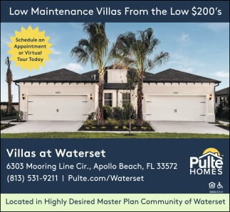 Law Maintenance VIllas From The Low $200's