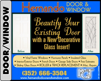 Dress Up Your Home With A New Glass Insert In Your Door