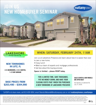 Join Us New Homebuyer Seminar