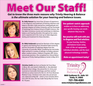 Meet Our Staff!