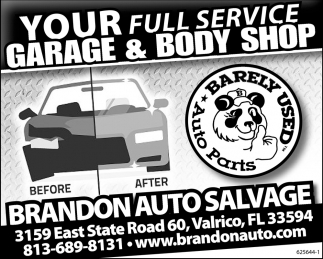Your Full Service Garage And Body Shop
