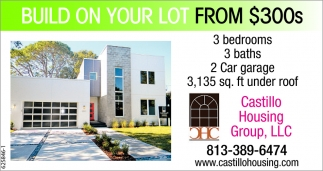 Build On Your Lot From $300s