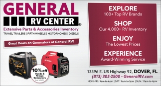 Extensive Parts Accessories Inventory General Rv Center