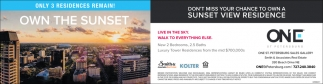 Don't Mees Your Chance To Own A Sunset View Residence