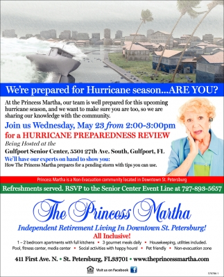 We're Prepared For Hurricane Season... Are You?