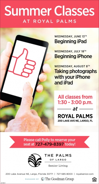 Summer Classes At Royal Palms