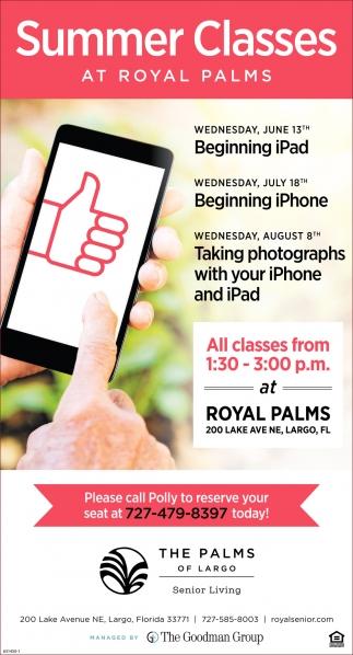 Summer Classes At Royal Palms