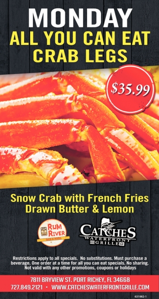Monday All You Can Eat Crab Legs